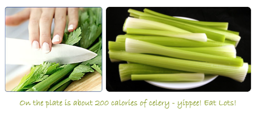 A pile of celery is only 200 calories.