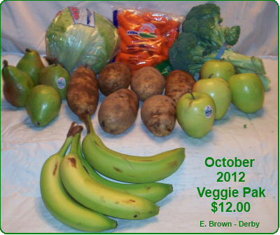 October 2012 Veggie Pak ONLY
