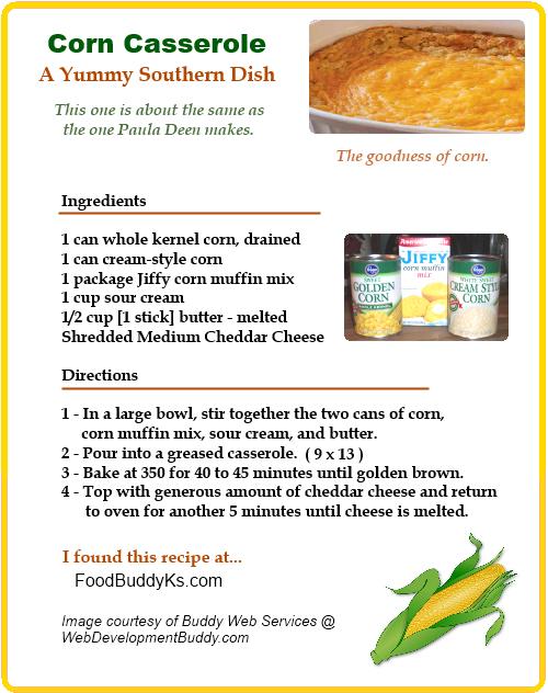 Southern Corn Casserole Recipe
