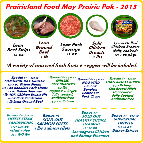 Prairieland Food - May 2013